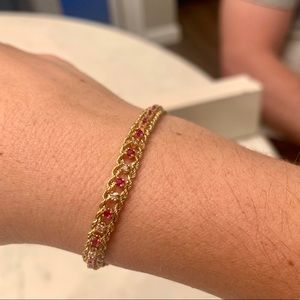 Vintage Helzberg Diamond & Ruby Bracelet 💎 ❤️